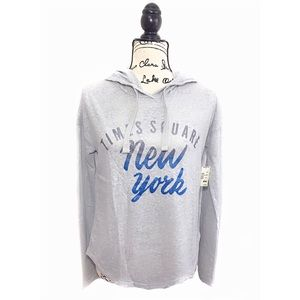 Aeropostale hoodie light weight loose fit gray XS